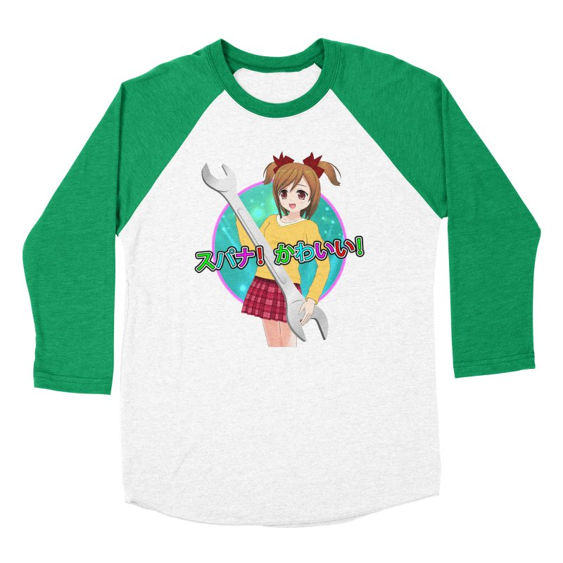 Spanner! Kawaii! Women's Baseball Triblend Longsleeve T-Shirt by The Rake & Herald Online Clag Emporium
