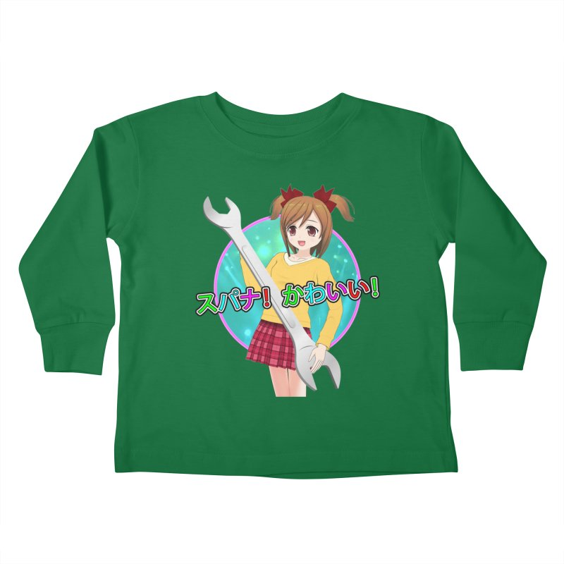 Spanner! Kawaii! Kids Toddler Longsleeve T-Shirt by The Rake & Herald Online Clag Emporium