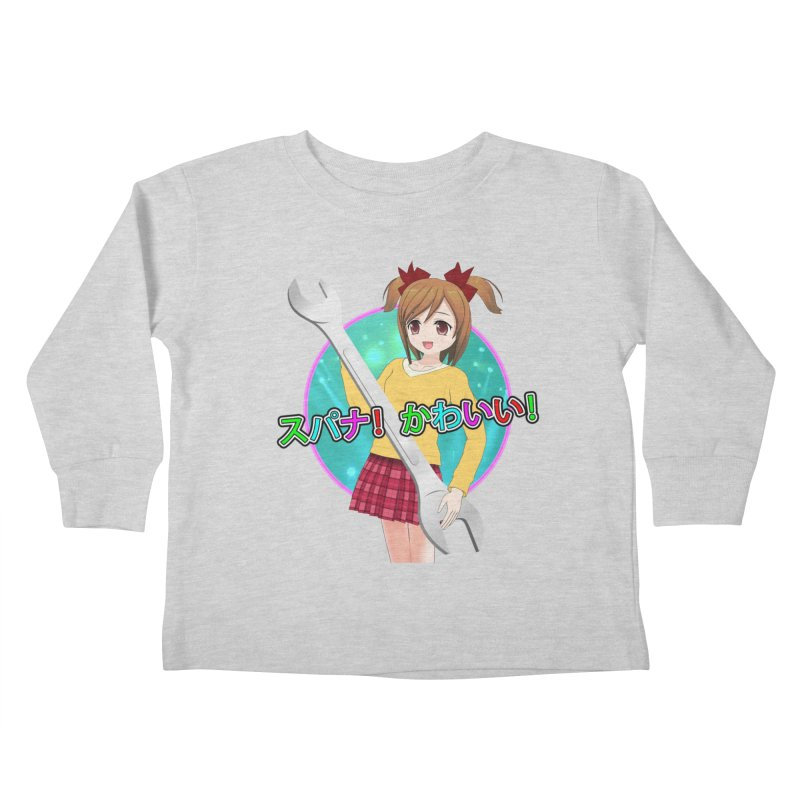 Spanner! Kawaii! Kids Toddler Longsleeve T-Shirt by The Rake & Herald Online Clag Emporium