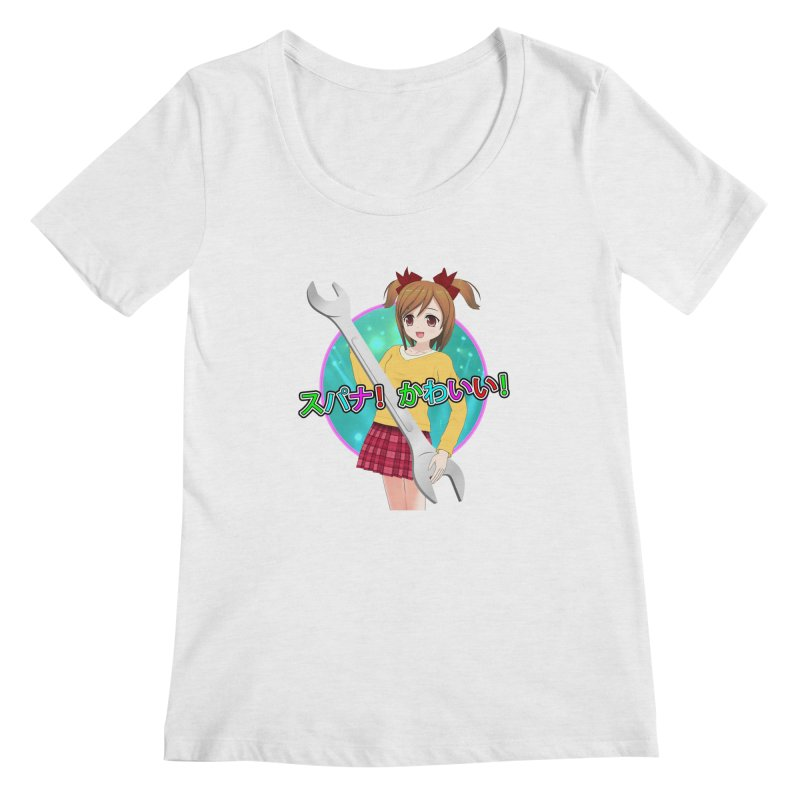 Spanner! Kawaii! Women's Regular Scoop Neck by The Rake & Herald Online Clag Emporium