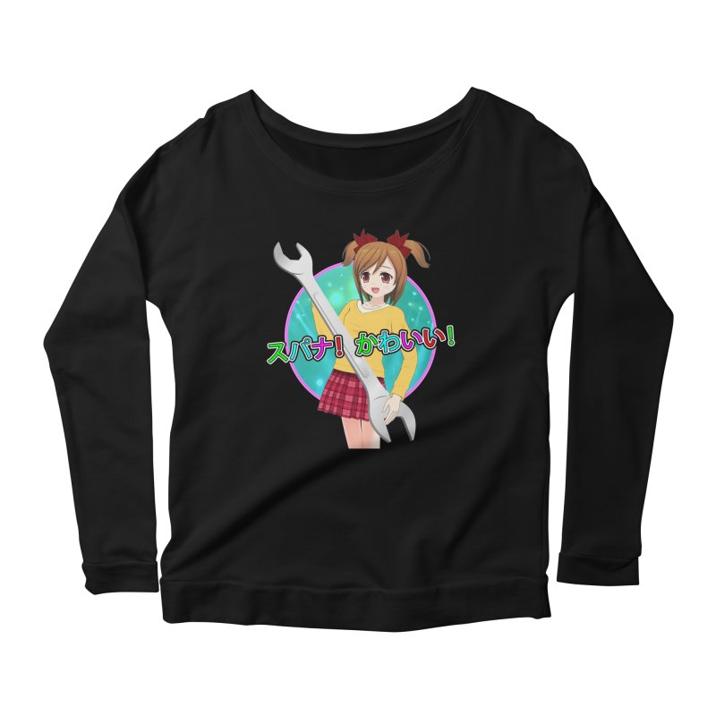 Spanner! Kawaii! Women's Scoop Neck Longsleeve T-Shirt by The Rake & Herald Online Clag Emporium