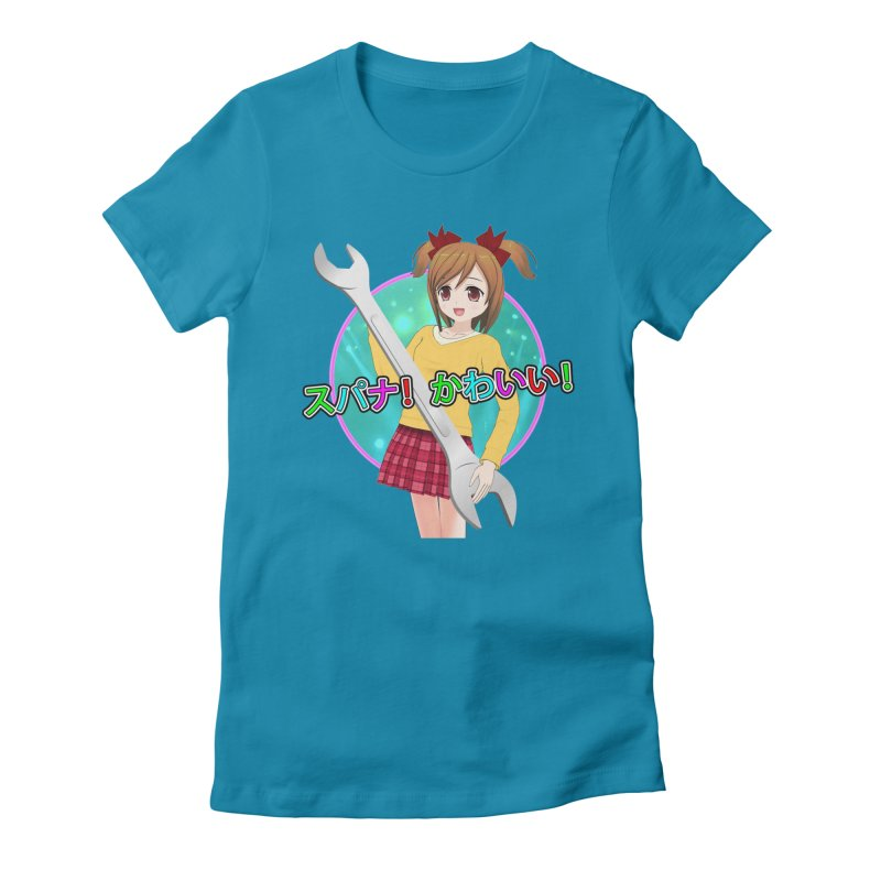 Spanner! Kawaii! Women's Fitted T-Shirt by The Rake & Herald Online Clag Emporium