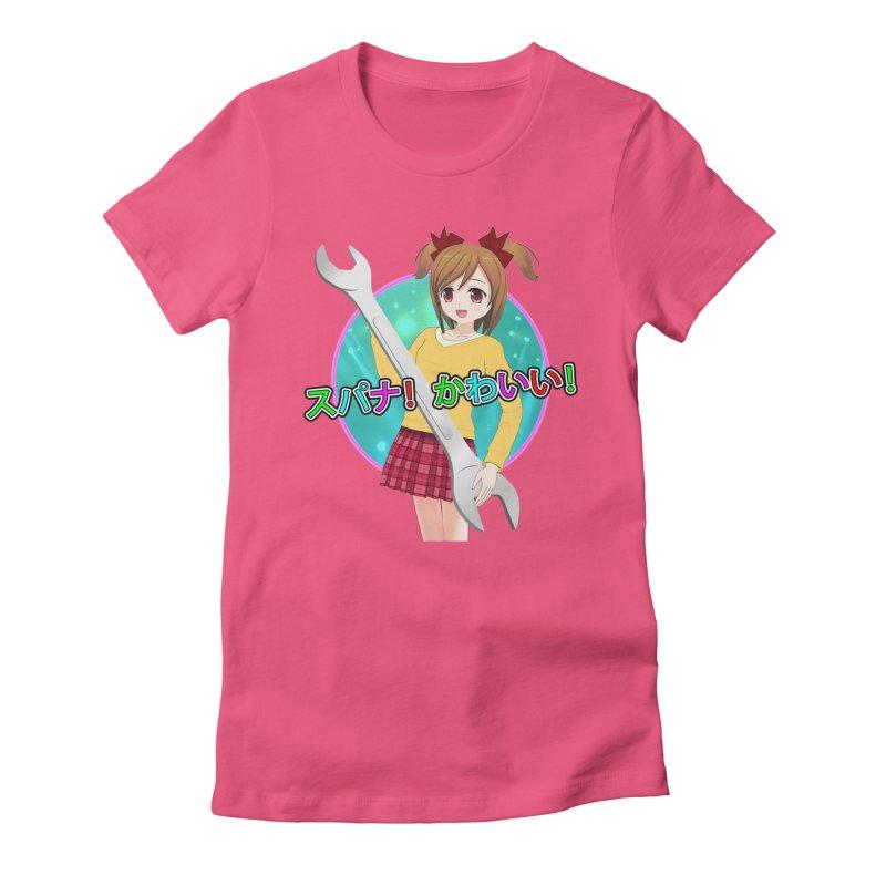 Spanner! Kawaii! Women's Fitted T-Shirt by The Rake & Herald Online Clag Emporium