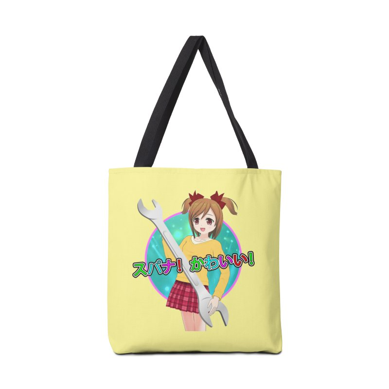 Spanner! Kawaii! Accessories Tote Bag Bag by The Rake & Herald Online Clag Emporium