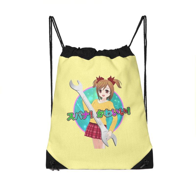 Spanner! Kawaii! Accessories Drawstring Bag Bag by The Rake & Herald Online Clag Emporium