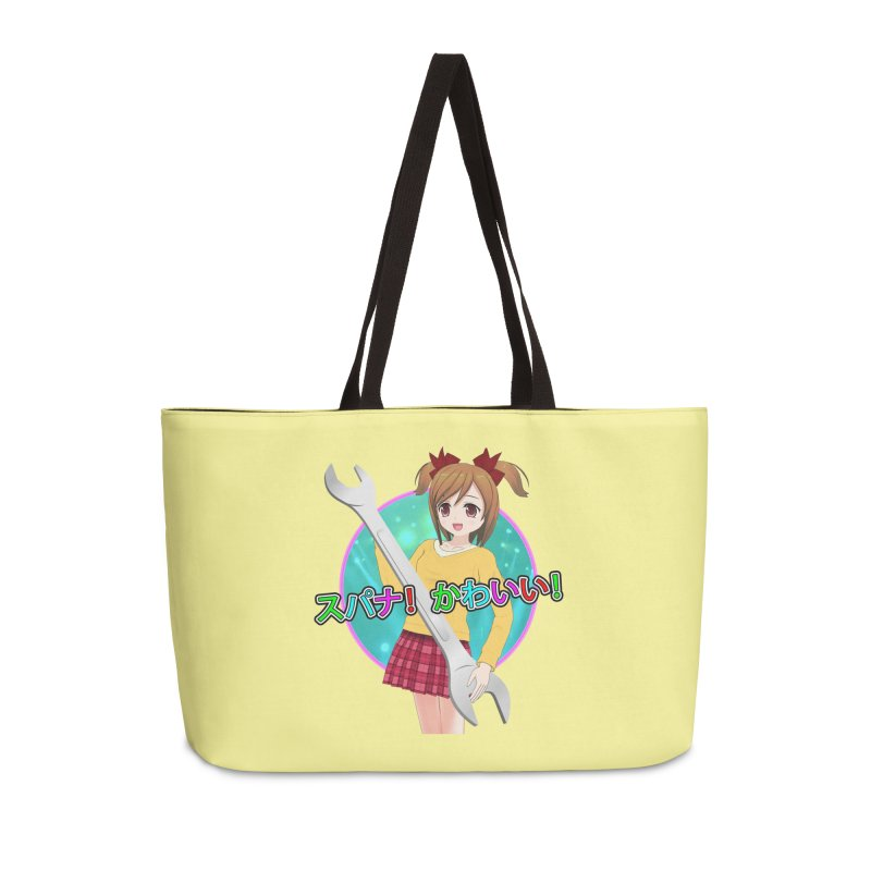 Spanner! Kawaii! Accessories Weekender Bag Bag by The Rake & Herald Online Clag Emporium