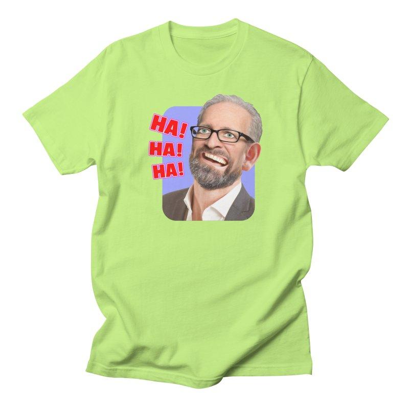 Ha! Ha! Ha! Men's T-Shirt by The Rake & Herald Online Clag Emporium