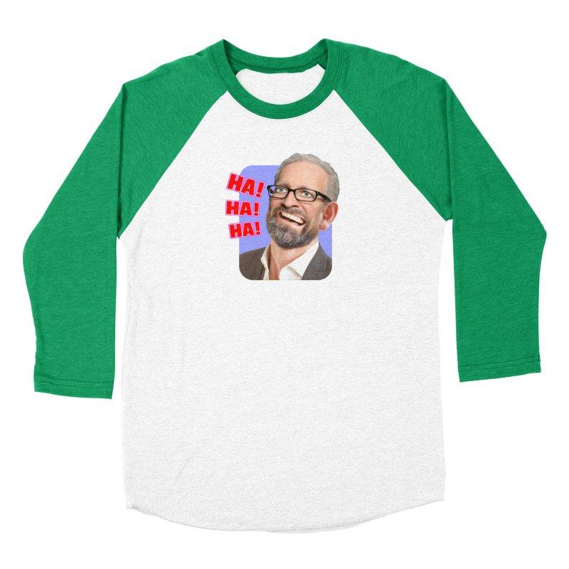 Ha! Ha! Ha! Men's Baseball Triblend Longsleeve T-Shirt by The Rake & Herald Online Clag Emporium