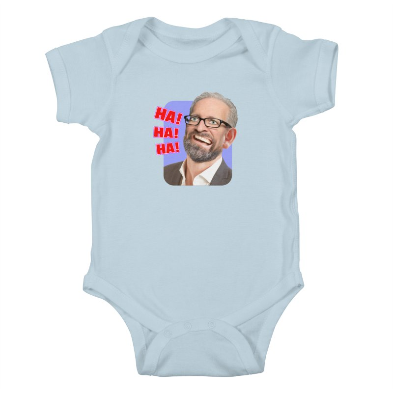 Ha! Ha! Ha! Kids Baby Bodysuit by The Rake & Herald Online Clag Emporium