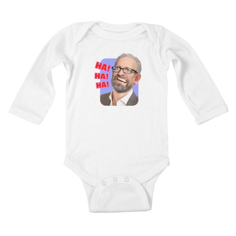 Ha! Ha! Ha! Kids Baby Longsleeve Bodysuit by The Rake & Herald Online Clag Emporium