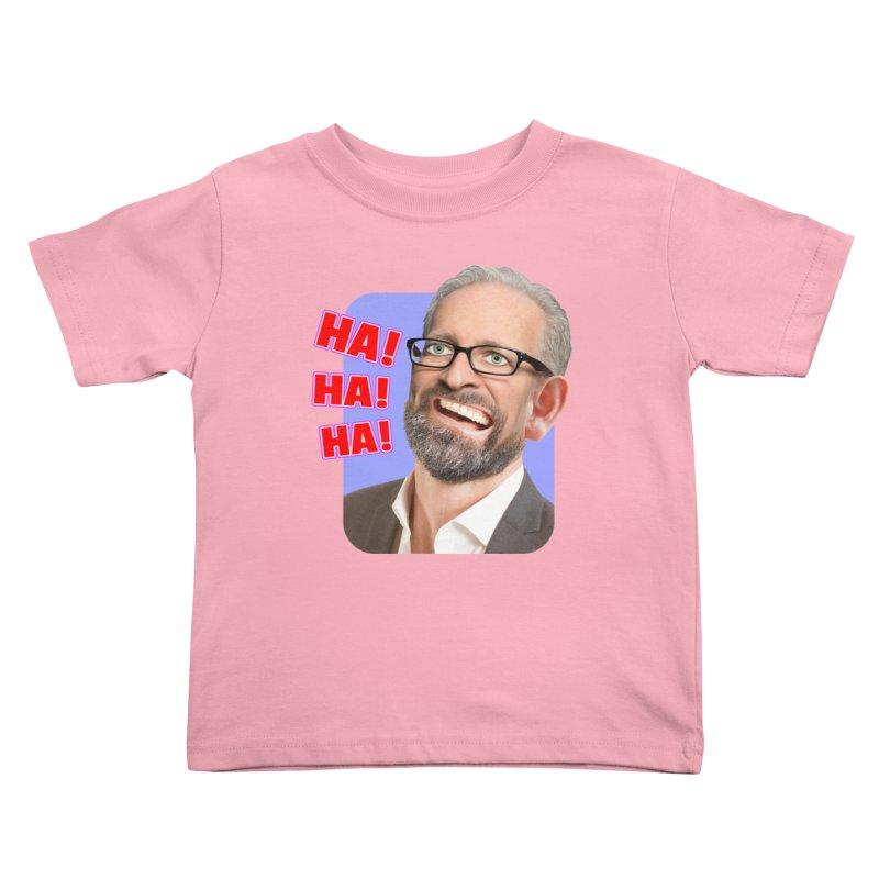 Ha! Ha! Ha! Kids Toddler T-Shirt by The Rake & Herald Online Clag Emporium