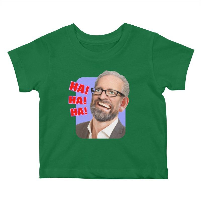 Ha! Ha! Ha! Kids Baby T-Shirt by The Rake & Herald Online Clag Emporium