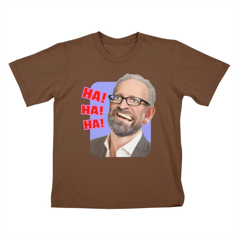 Ha! Ha! Ha! Kids T-Shirt by The Rake & Herald Online Clag Emporium