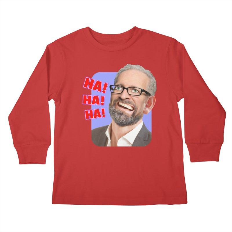 Ha! Ha! Ha! Kids Longsleeve T-Shirt by The Rake & Herald Online Clag Emporium
