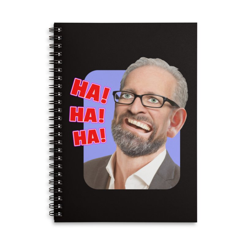 Ha! Ha! Ha! Accessories Lined Spiral Notebook by The Rake & Herald Online Clag Emporium