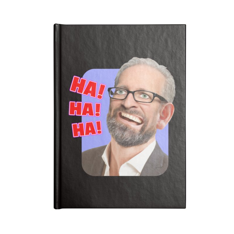 Ha! Ha! Ha! Accessories Lined Journal Notebook by The Rake & Herald Online Clag Emporium