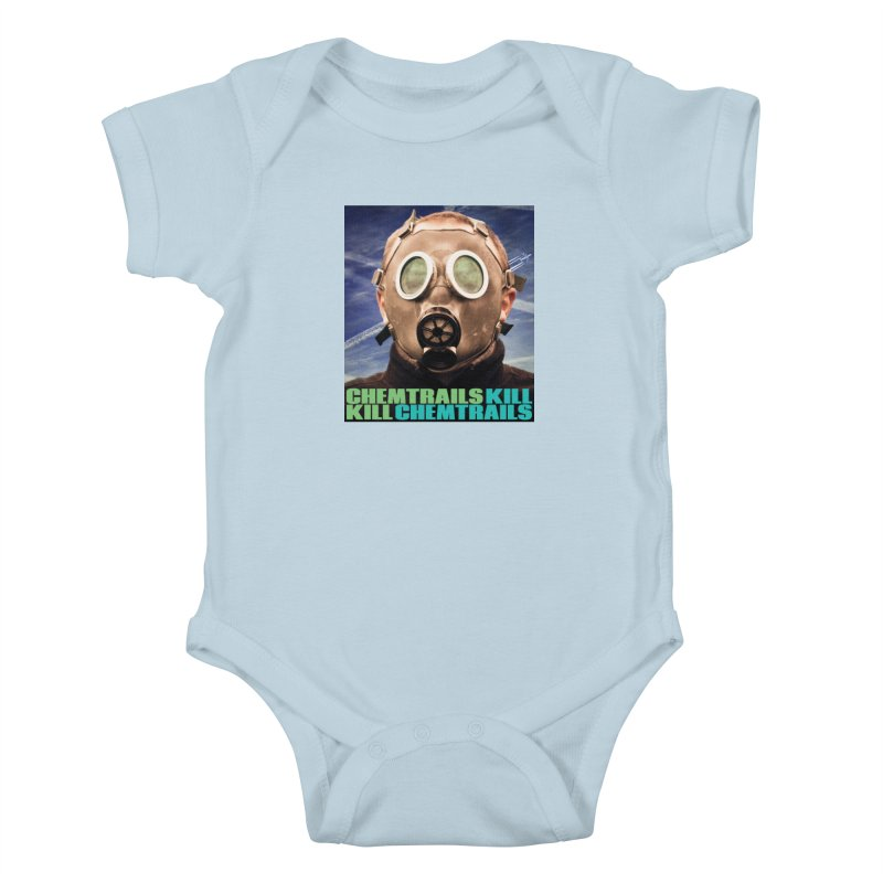 Chemtrails Kill Kids Baby Bodysuit by The Rake & Herald Online Clag Emporium