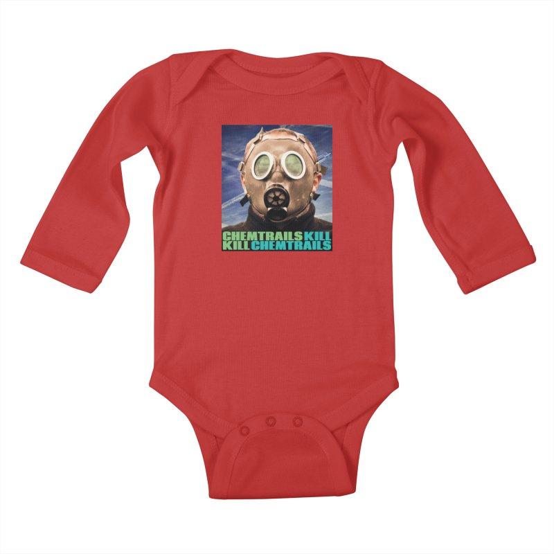 Chemtrails Kill Kids Baby Longsleeve Bodysuit by The Rake & Herald Online Clag Emporium