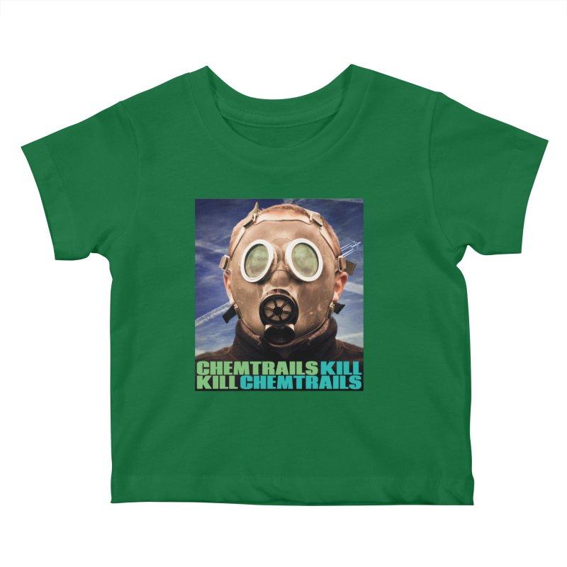 Chemtrails Kill Kids Baby T-Shirt by The Rake & Herald Online Clag Emporium