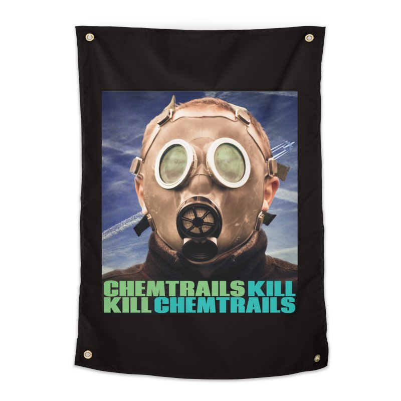 Chemtrails Kill Home Tapestry by The Rake & Herald Online Clag Emporium