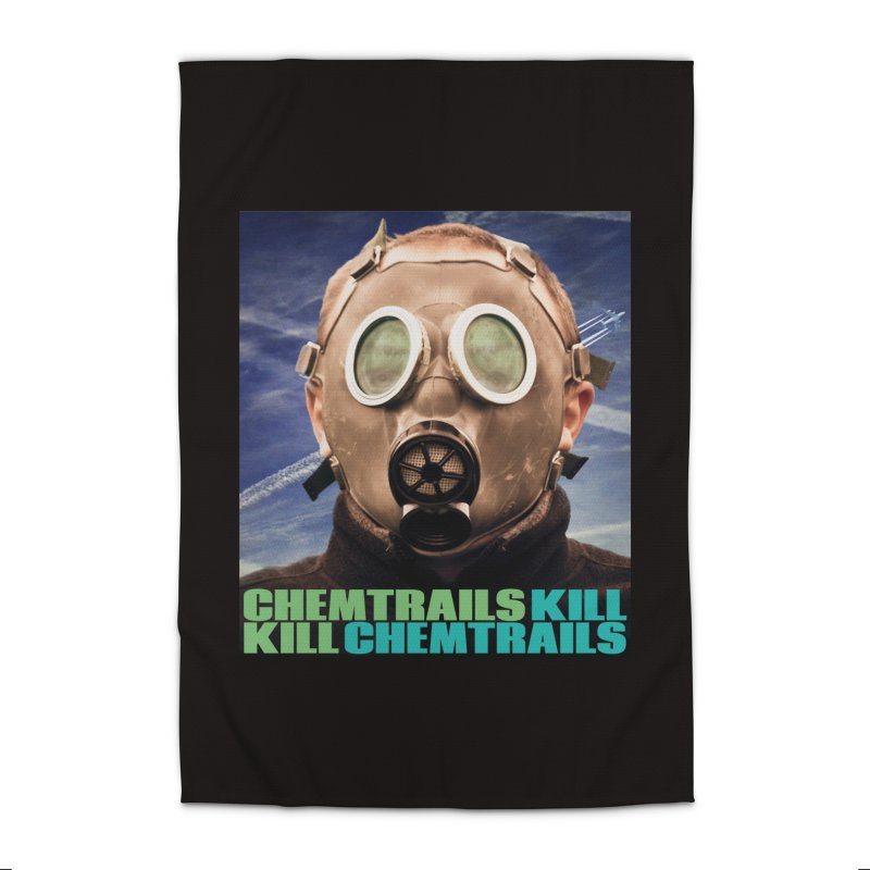 Chemtrails Kill Home Rug by The Rake & Herald Online Clag Emporium