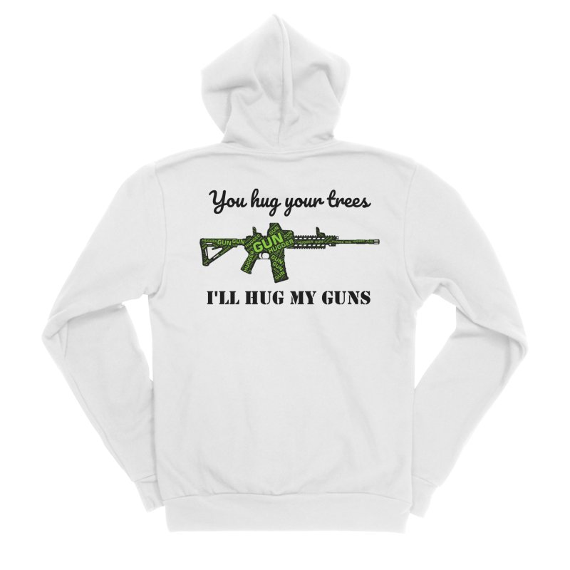 Gun Hugger Men's Sponge Fleece Zip-Up Hoody by Rally For Our Rights Shop
