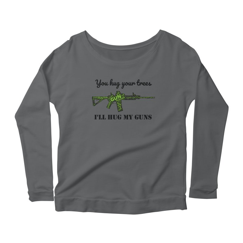 Gun Hugger Women's Scoop Neck Longsleeve T-Shirt by Rally For Our Rights Shop