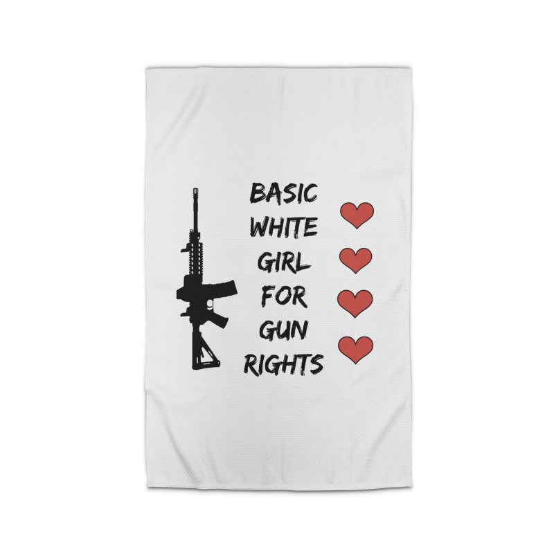 Basic White Girl For Gun Rights Home Rug by Rally For Our Rights Shop