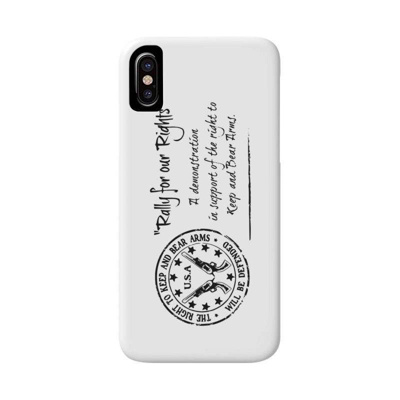 Rally for our Rights - Classic Black Logo Accessories Phone Case by Rally For Our Rights Shop