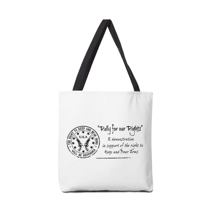 Rally for our Rights - Classic Black Logo Accessories Bag by Rally For Our Rights Shop