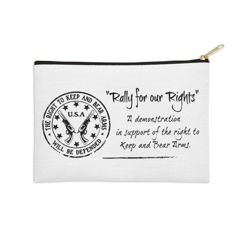 Rally for our Rights - Classic Black Logo Accessories Zip Pouch by Rally For Our Rights Shop
