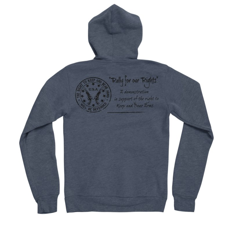 Rally for our Rights - Classic Black Logo Women's Sponge Fleece Zip-Up Hoody by Rally For Our Rights Shop
