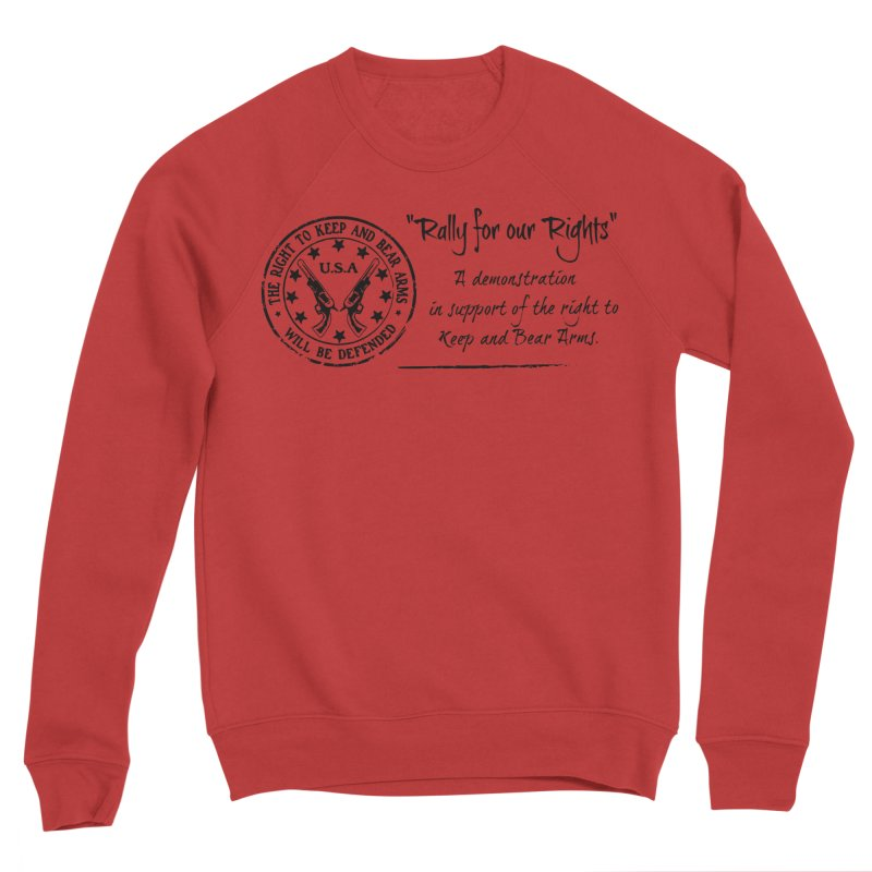Rally for our Rights - Classic Black Logo Men's Sponge Fleece Sweatshirt by Rally For Our Rights Shop