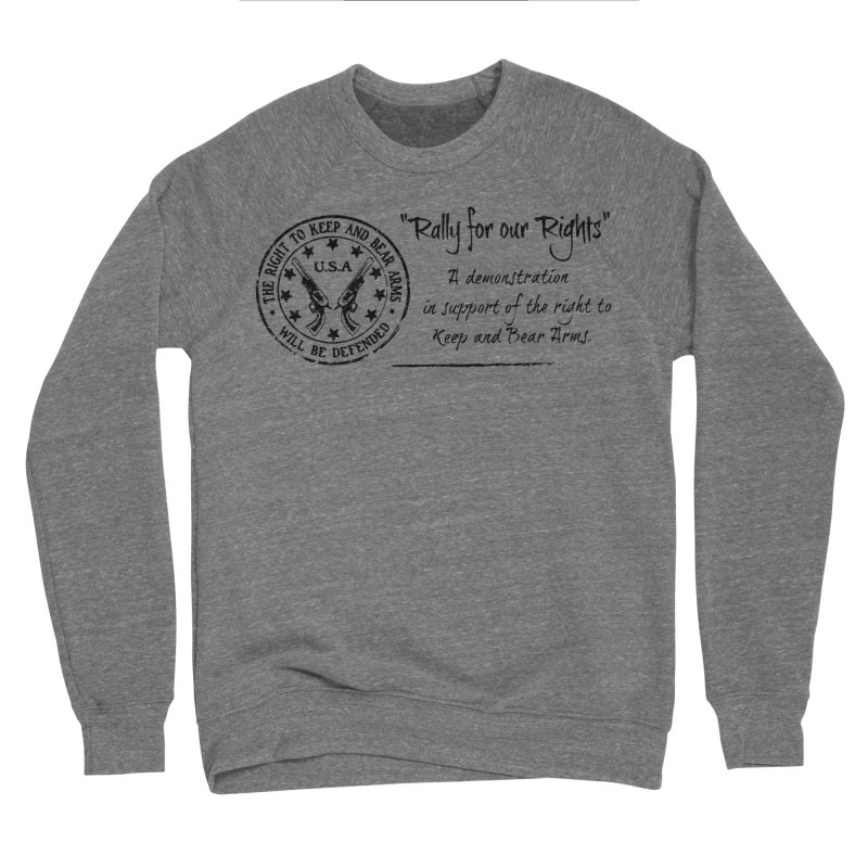 Rally for our Rights - Classic Black Logo Women's Sponge Fleece Sweatshirt by Rally For Our Rights Shop