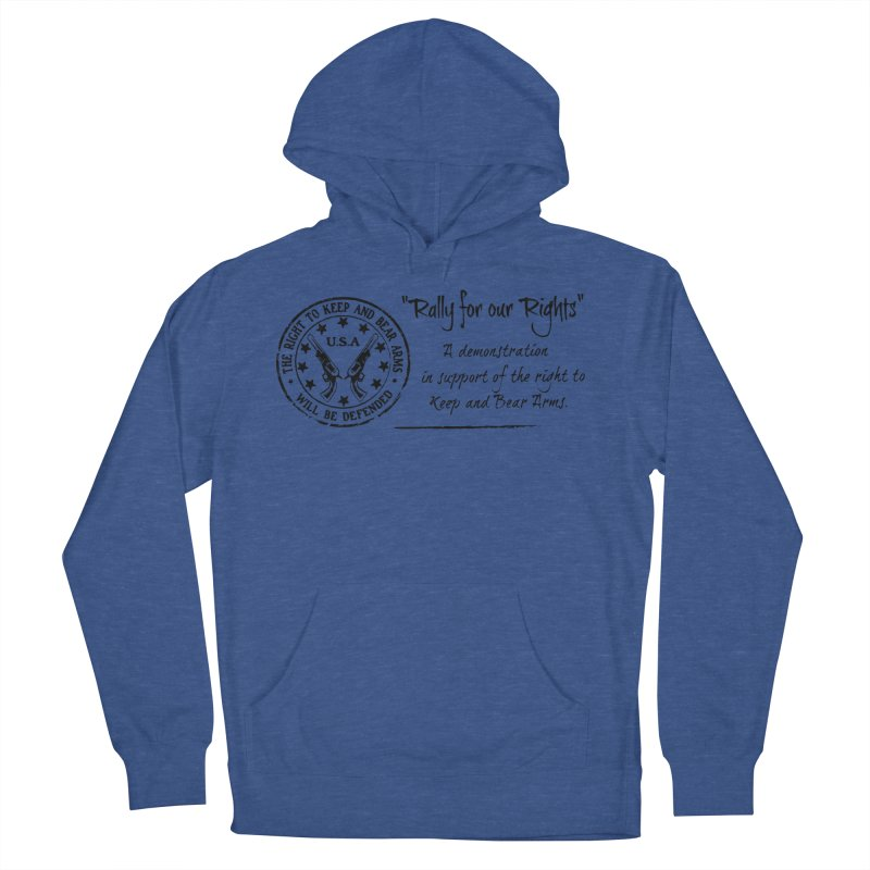 Rally for our Rights - Classic Black Logo Men's French Terry Pullover Hoody by Rally For Our Rights Shop
