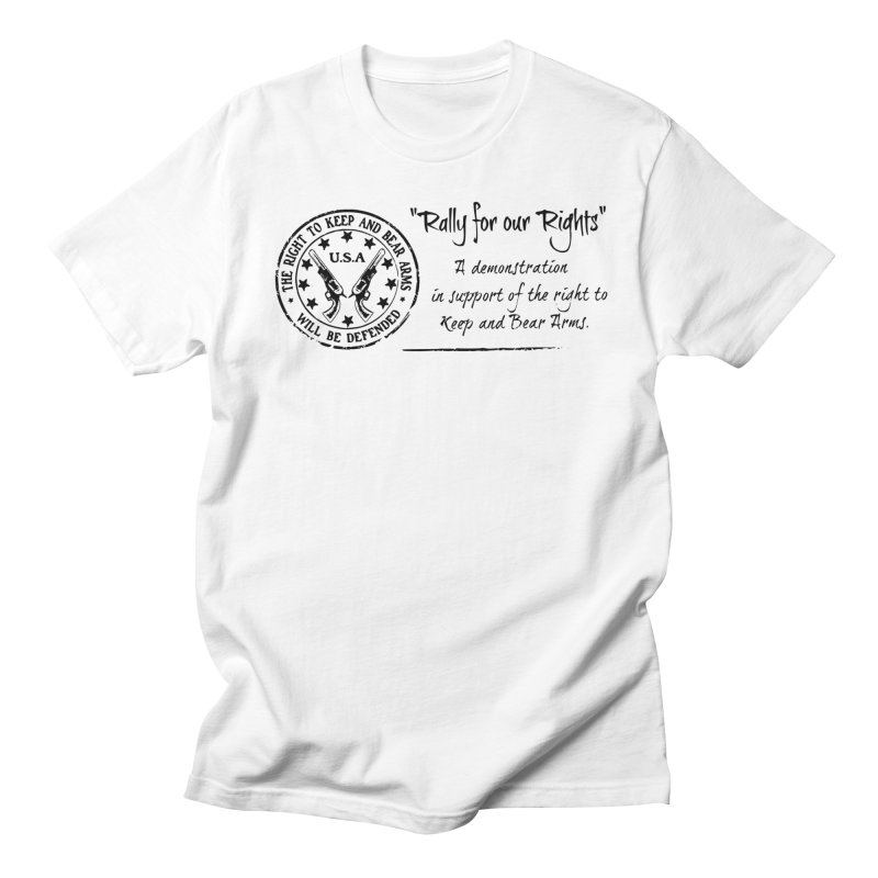 Rally for our Rights - Classic Black Logo Women's Regular Unisex T-Shirt by Rally For Our Rights Shop
