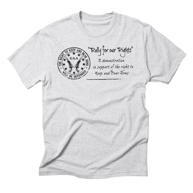 Rally for our Rights - Classic Black Logo Men's Triblend T-Shirt by Rally For Our Rights Shop