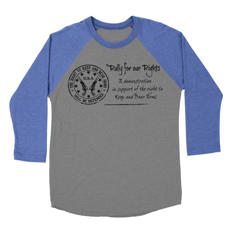 Rally for our Rights - Classic Black Logo Women's Baseball Triblend Longsleeve T-Shirt by Rally For Our Rights Shop