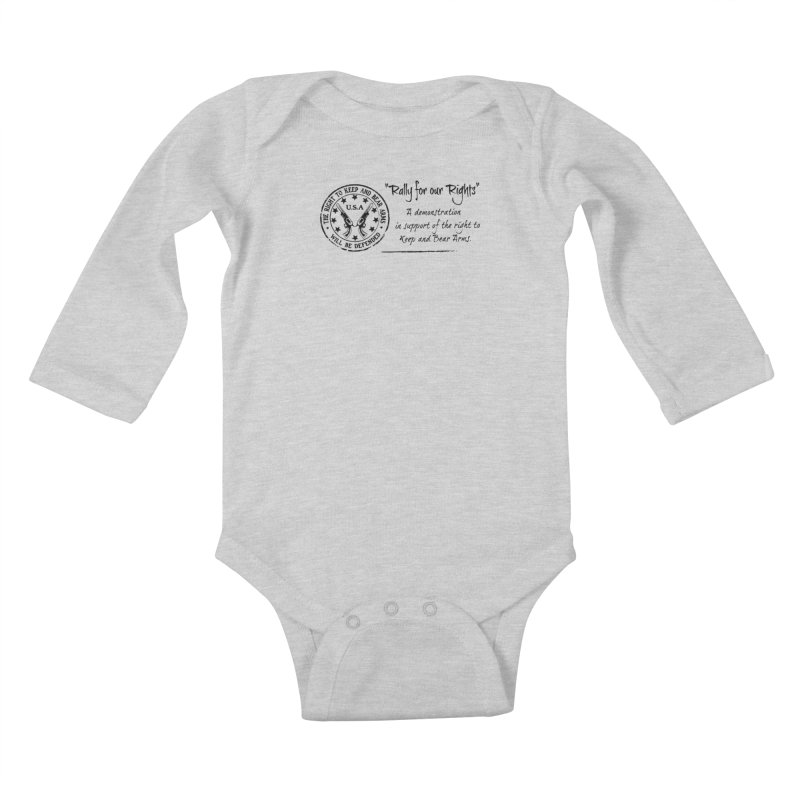 Rally for our Rights - Classic Black Logo Kids Baby Longsleeve Bodysuit by Rally For Our Rights Shop