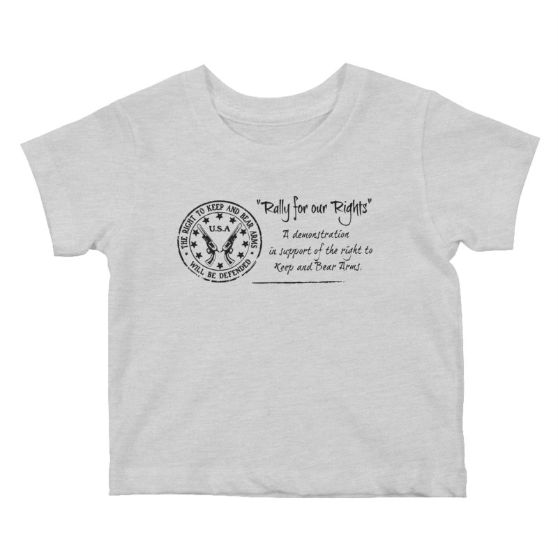 Rally for our Rights - Classic Black Logo Kids Baby T-Shirt by Rally For Our Rights Shop