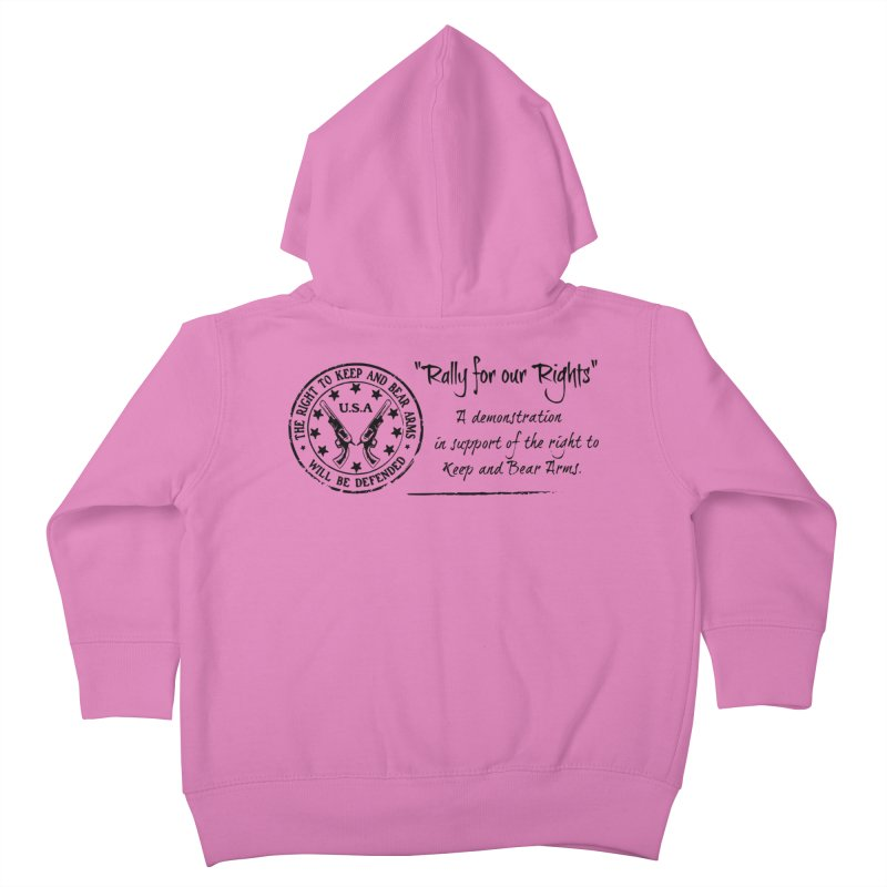 Rally for our Rights - Classic Black Logo Kids Toddler Zip-Up Hoody by Rally For Our Rights Shop