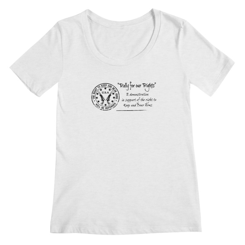 Rally for our Rights - Classic Black Logo Women's Regular Scoop Neck by Rally For Our Rights Shop
