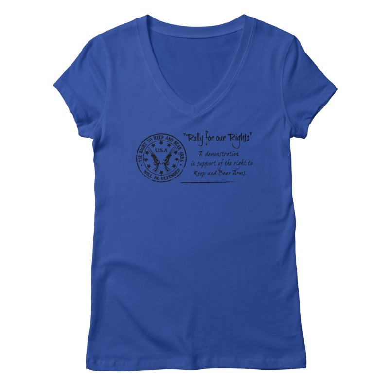 Rally for our Rights - Classic Black Logo Women's Regular V-Neck by Rally For Our Rights Shop