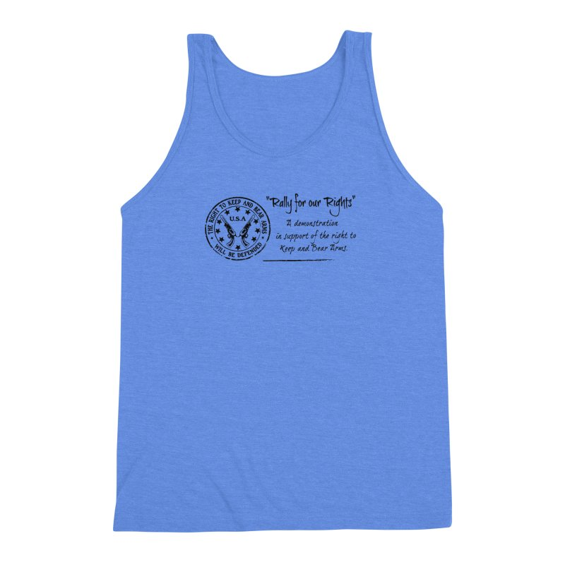 Rally for our Rights - Classic Black Logo Men's Triblend Tank by Rally For Our Rights Shop