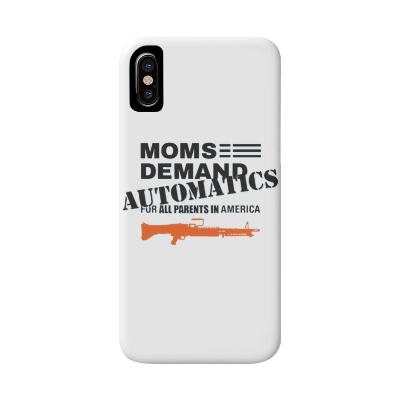 Moms Demand Automatics - Black Logo, Orange LMG Accessories Phone Case by Rally For Our Rights Shop