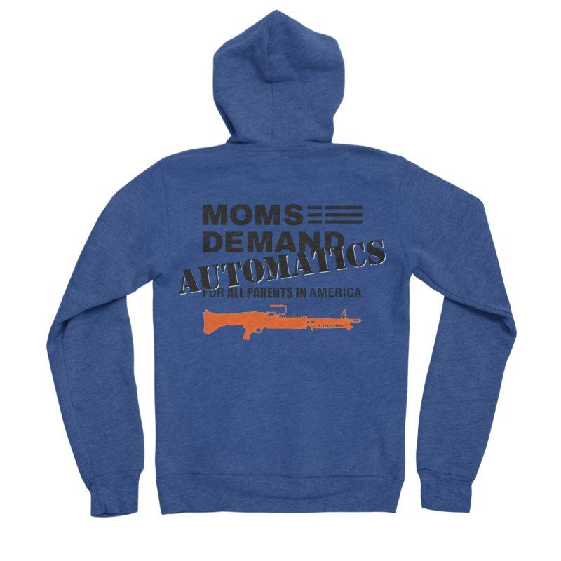 Moms Demand Automatics - Black Logo, Orange LMG Women's Sponge Fleece Zip-Up Hoody by Rally For Our Rights Shop
