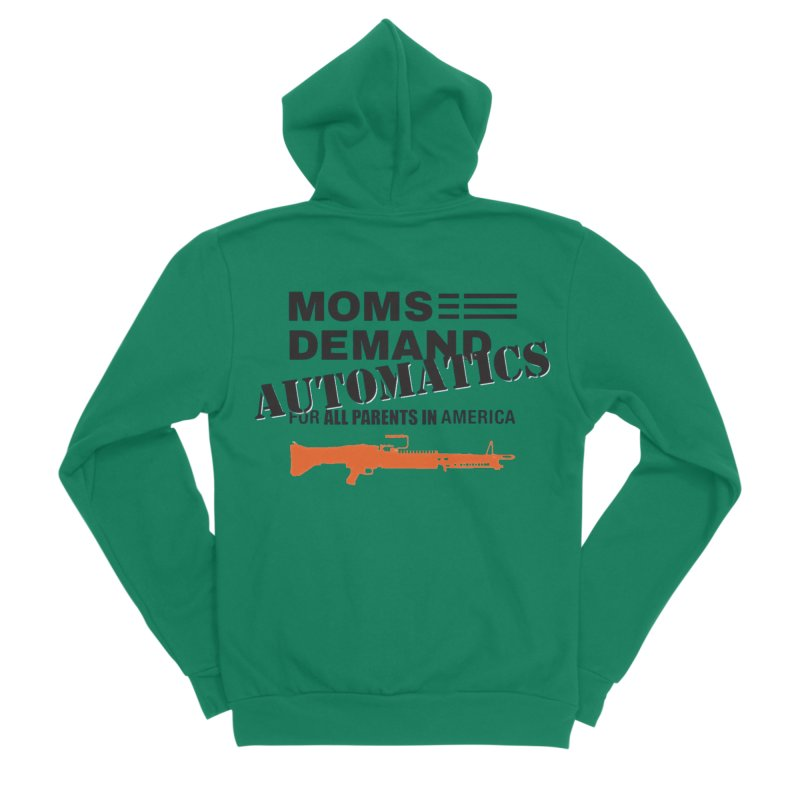 Moms Demand Automatics - Black Logo, Orange LMG Men's Sponge Fleece Zip-Up Hoody by Rally For Our Rights Shop