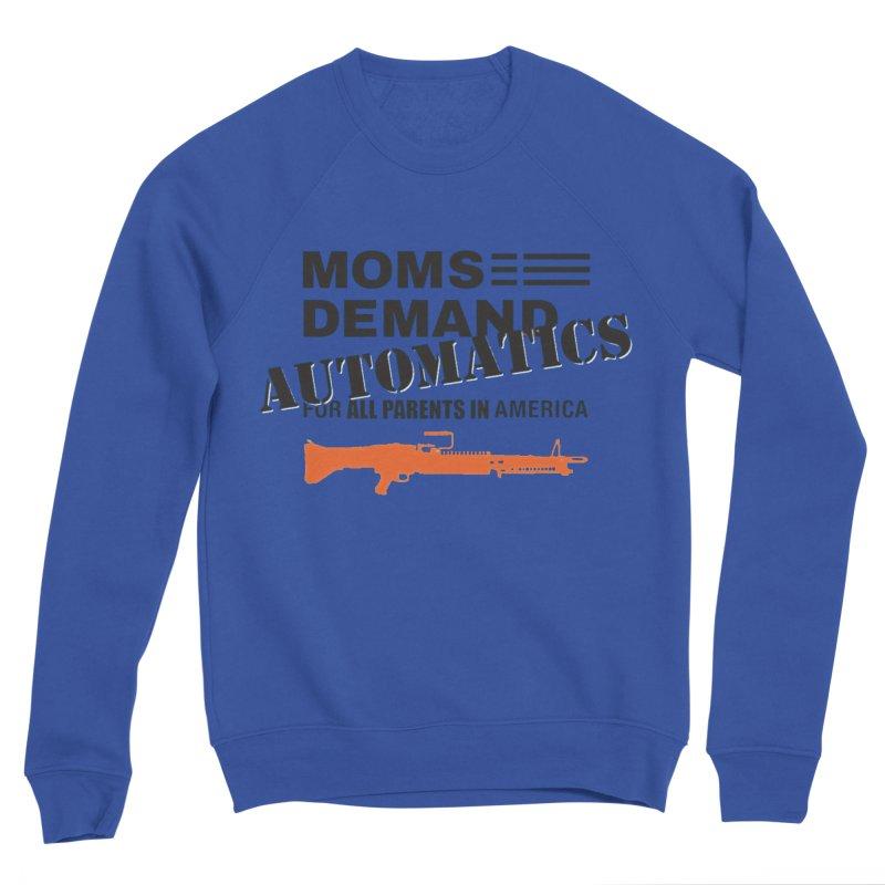 Moms Demand Automatics - Black Logo, Orange LMG Men's Sponge Fleece Sweatshirt by Rally For Our Rights Shop