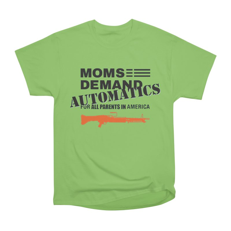 Moms Demand Automatics - Black Logo, Orange LMG Men's Heavyweight T-Shirt by Rally For Our Rights Shop