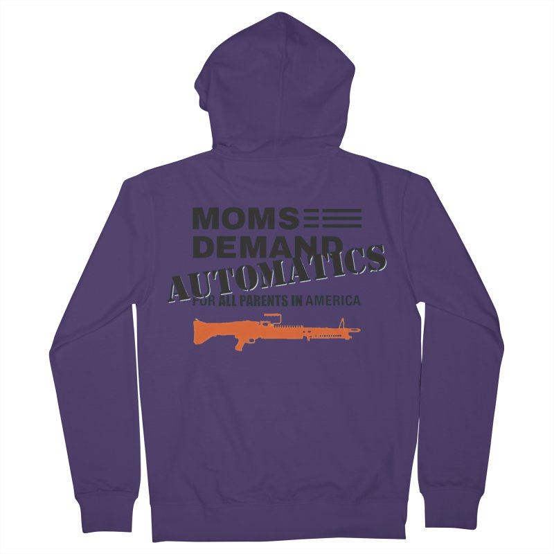 Moms Demand Automatics - Black Logo, Orange LMG Women's French Terry Zip-Up Hoody by Rally For Our Rights Shop